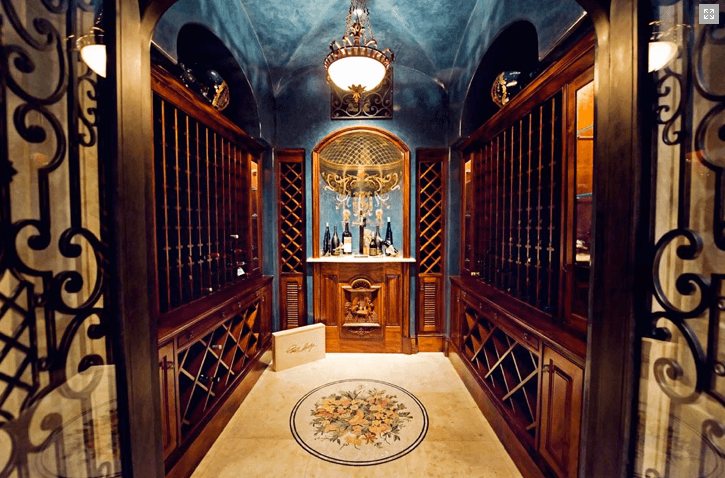 Custom Wine Cellar Cabinetry and Moulding
