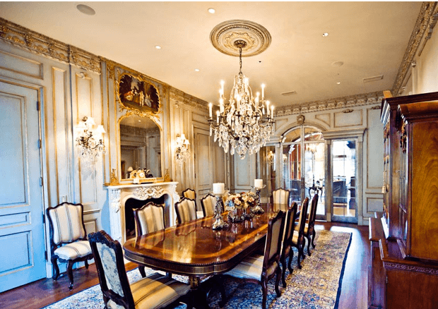 Custom Dining Room Paneling and Molding