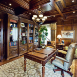 Custom built-ins, crown mold, raised paneling by Interior Concepts