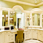 Custom Bathroom Vanity Cabinets and Molding