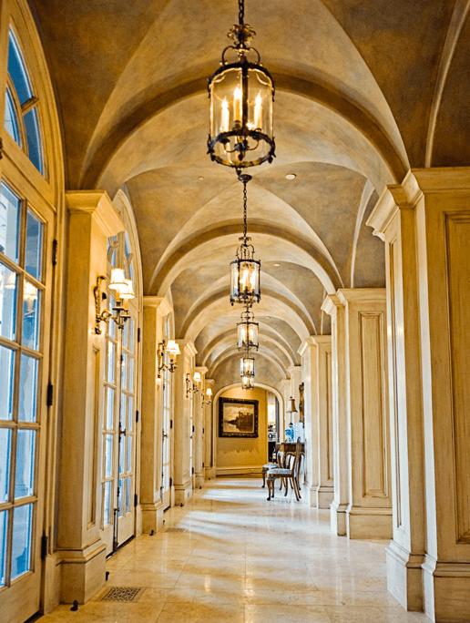 Custom Column and Door Frame Woodwork