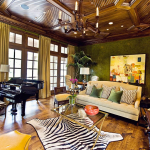 Elegant Custom Living Room Ceiling and Woodwork