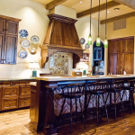 Custom Kitchen Cabinets and Beams