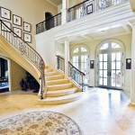 Crown molding, stairway, columns, trim and custom ceiling by Interior Concepts - DFW