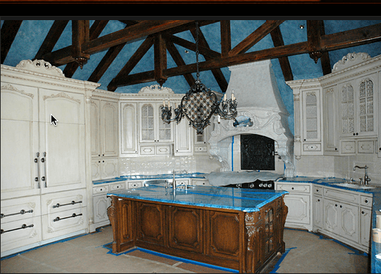 Custom Kitchen Cabinetry and Beams